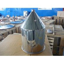 Trémie de remplissage conique en acier inoxydable