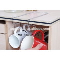 Porte-gobelets / étagère en métal chromé