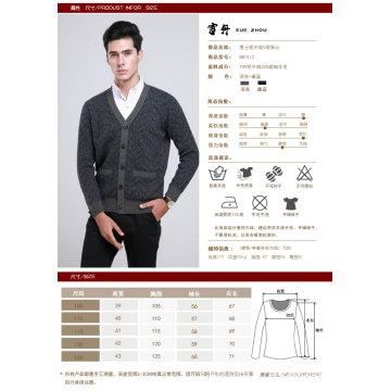 Yak Wool / Cachemire V Neck Cardigan à manches longues Pull / Vêtements / Tricots / Vêtement