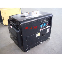 AC Single Phase 50Hz/4.5kw Key Start Silent Diesel Generator for Shop and Office Use