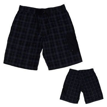 Yj-3025 Mens Velcro Plaid Running Short Running Shorts Workout Outfits