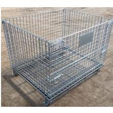 Cages de palettes d'entrepôt en treillis d'acier empilables