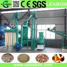 1t / H Polvo de aserrín de madera Rice Husk Línea de producción de pellets