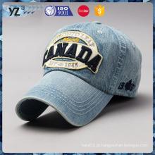 Personalizado multicolor applique bordado logotipo lavar cowboy caps