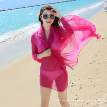 2017 fashion summer style cheap chiffon beach scarf