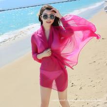 2017 мода летний стиль дешевые шифон пляж шарф