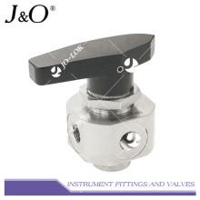 Acier inoxydable 316 3000psi Pressure 4way Instrument Ball Valve