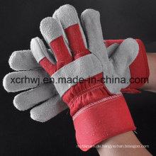 Industrie-Short-Rindsleder-Arbeitshandschuhe, Sicherheits-Arbeitshandschuhe, 10.5''patched Palm Lederhandschuh, Kuh Split Leder Voll Palm Handschuh, Fahrer Handschuhe