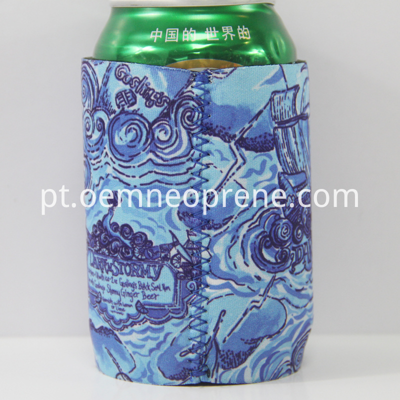 Stubby Can Coolers in Zigzag Sewing