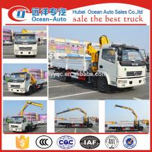 El nuevo diseño de China de fabricación DFAC 4 * 2 grúa de camión ligero con 2 toneladas