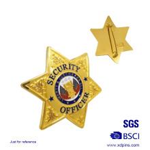 Benutzerdefinierte sternförmige Sheriff Emblem Abzeichen (xd-09016)
