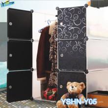 Garde-robe durable de PVC de meubles de chambre à coucher
