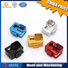 Aluminio mecánico CNC piezas mecanizadas superficie anodizado, cnc torneado de piezas de automóviles