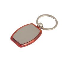 Billig Metall Werbeartikel Kunststoff Schlüsselring mit benutzerdefinierten Logo (F1008)