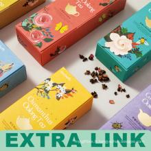 Le carton de catégorie comestible FSC fabriquent le thé de fleur se pliant la boîte d'emballage pour l'usine