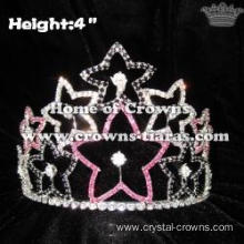 4inch Height Star Shaped Crystal Pageant Crowns