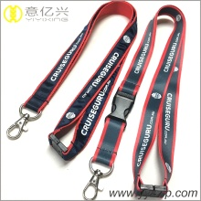 Supply personalized red silkscreen and sublimation lanyard