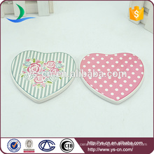 high quality heart shape ceramic plate with fresh patten
