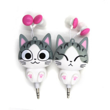 Cheese Cat Cartoon Automatic Retractable Headphones