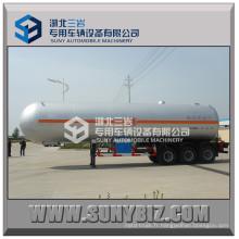 59520L 3 essieux 12-Wheels Clw 59520 Litres LPG Tank Trailer Prix LPG Gas Tanker semi-remorque à vendre