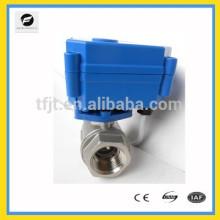 Válvula de bola de 2 vias DC5V para proteção ambiental e sistema de drenagem de água, projeto de tratamento de água