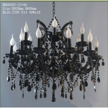 Modern K9 Crystal Big hotel Candle Chandelier