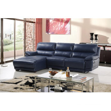 L Shape Leisure Leather Sofa with Recliner Function