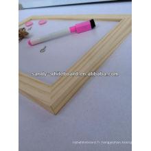 Tableau blanc en bois
