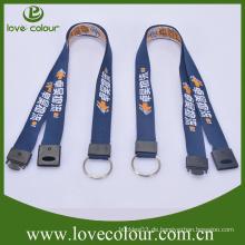 Neues Produkt Polyester benutzerdefinierte gewebte Hals Lanyards Strap für Schlüssel