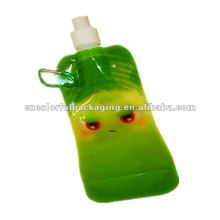 Spout Doypack Green Drinks Beverage Pouch Printed packaging bags with vivid printing