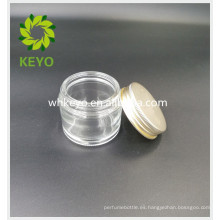 Tarro de cristal claro 70g con la tapa para la crema de cara que duerme la máscara cosmética del gel tarro de cristal vacío cosmético