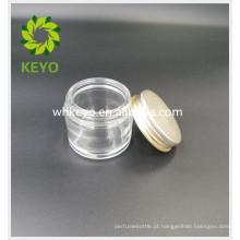 70g frasco de vidro transparente com tampa para creme para o rosto máscara de dormir gel cosmético frasco de vidro vazio