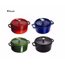 Enamel Mini cocotte with stainless steel lid