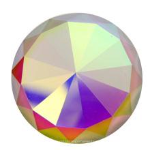 Flat Back Rivoli Crystal Rhinesone para Moda Decorativa Crystal Acessório