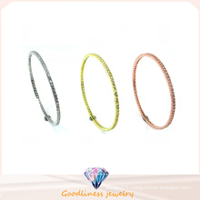 Wholesale Simple & Fashion Jewelry 925 Silver Politeness Bangle (G41281)