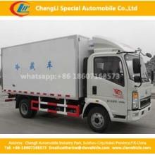 HOWO 4X2 120HP 10cbm Refrigerador Cargo Box Truck