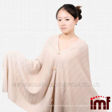 Оптовая ручной вязание крючком вязаный узор пончо одеяло