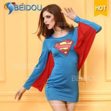 2016 Горячий Продам Необычный Платье Супермена Сексуальный Костюм Хэллоуина