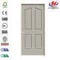 Textured 4-Panel Eyebrow Top Painted Molded Prehung Door