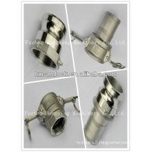 Raccord de tuyau de gaz en acier inoxydable