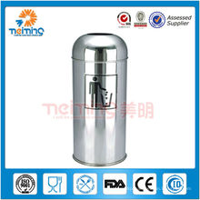 Stainless Steel Push Can(outdoor waste bin,rubbish bin)