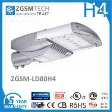 80W Lumen élevé garantie de 5 ans réverbère solaire de LED