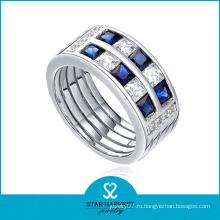 Широкое кольцо ювелирных изделий сапфира для сбывания (SH-R0063)