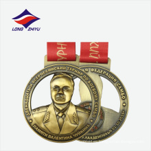 Aleación de cinc estilo de arte 3D folk estilo agradable metal redondeado medalla