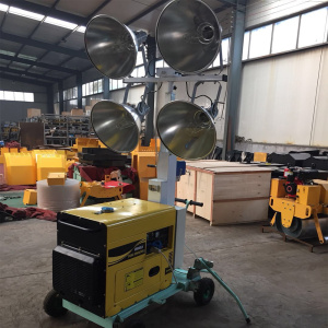 Gasoline generator 400W halide lamp Mobile light tower