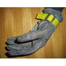 Luva resistente ao corte de aço inoxidável