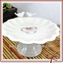 Keramik-Kuchenhalter mit zwei Vögeln