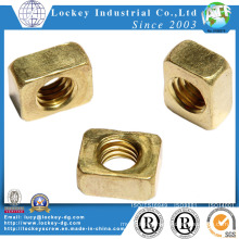 Brass Square Nut Plain Finish