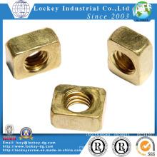 Plain Finish Brass Square Nut