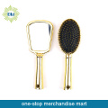 2 pcs wholesale cosmetic golden hair brush set